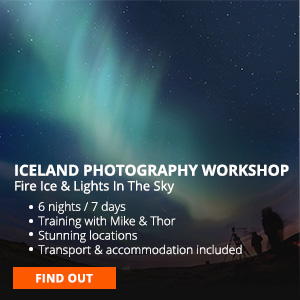 Iceland photo workshop northern lights