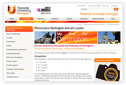 teeside university photography competition